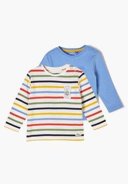 s.Oliver - 2PACK - Langarmshirt - blue placed print/offwhite stripes