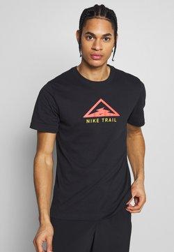 Nike Performance - DRY TEE TRAIL - Camiseta estampada - black