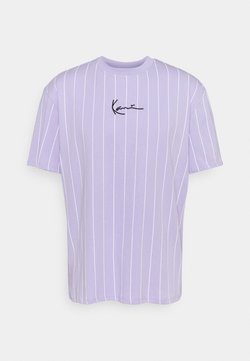 Karl Kani - SMALL SIGNATURE PINSTRIPE TEE UNISEX - T-Shirt print - lilac/white