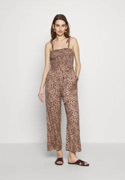 Abercrombie & Fitch - SMOCKED BODICE - Combinaison - brown cow