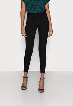 VILA PETITE - VIJEGGY ANA JEGGING - Jeans Skinny Fit - black denim