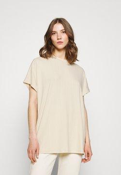 Monki - FILLA - T-Shirt print - dark offwhite/beige
