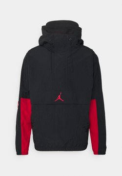 Jordan - Windbreaker - black/gym red/white