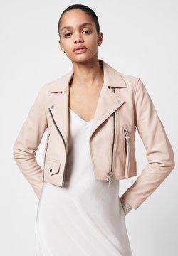 AllSaints - ELORA BIKER - Leather jacket - pale pink