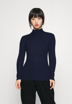 Selected Femme Petite - SLFCOSTA ROLLNECK - Jersey de punto - maritime blue
