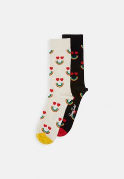 Happy Socks - HAPPY RAINBOW PACK 2 PACK - Sokken - black