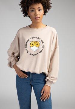 The Helping Leopard - Sweatshirt - beige