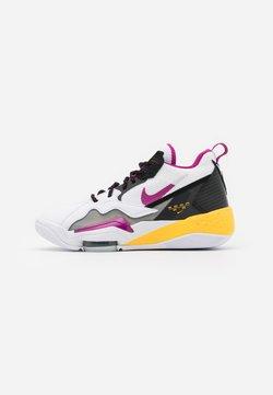 Jordan - ZOOM '92 - Sneakers hoog - white/cactus flower/black/smoke grey/laser orange