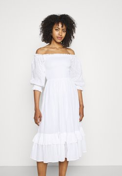 Lace & Beads - ELEANOR MIDI - Korte jurk - white