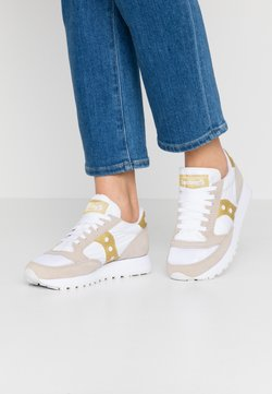 Saucony - JAZZ VINTAGE - Sneaker low - white/gold