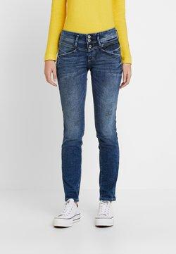TOM TAILOR - ALEXA - Jeans Slim Fit - random bleached/ blue denim