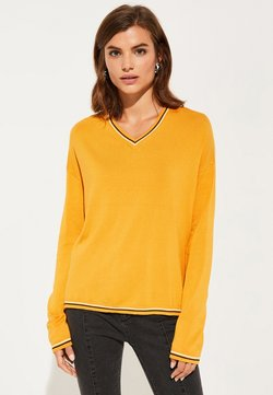 comma casual identity - LONGSLEEVE - Strickpullover - yellow