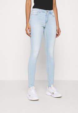 ONLY - ONLWAUW LIFE MID - Jeans Skinny Fit - special bright blue denim