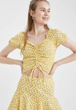 DeFacto - FITTED  - T-Shirt print - yellow