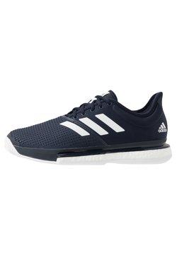 adidas Performance - SOLECOURT BOOST - Buty tenisowe na nawierzchnię ziemną - legend ink/footwear white