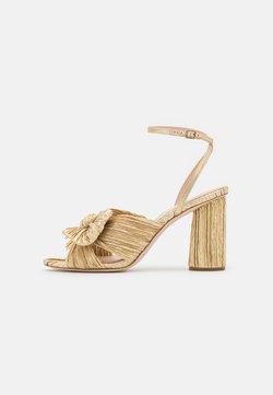 Loeffler Randall - CAMELLIA KNOTWITH ANKLE STRAP - Korolliset sandaalit - gold