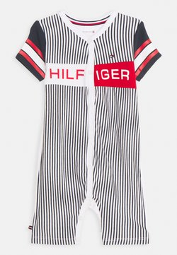 Tommy Hilfiger - BABY STRIPED SHORTALL UNISEX - Strampler - twilight navy