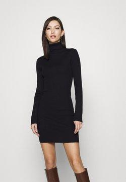 Missguided - ROLL NECK MINI DRESS - Stickad klänning - black