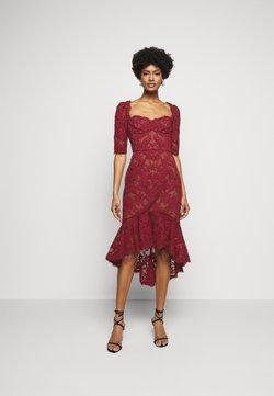 Marchesa - SLEEVE DAMASK DRESS - Cocktailkleid/festliches Kleid - bordeaux