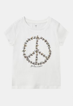 GAP - GIRL - T-shirt z nadrukiem - new off white