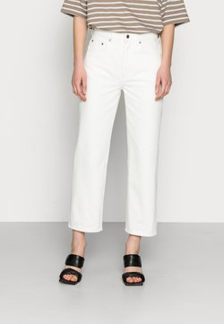 ARKET - CROPPED - Jeans straight leg - off white