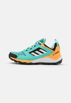 adidas Performance - TERREX AGRAVIC TR - Hiking shoes - acid mint/footwear white/hazy orange