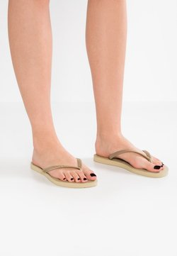 Havaianas - SLIM FIT - Teenslippers - sand grey/light gold