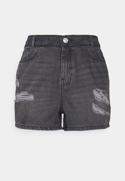 Noisy May - NMLOTTIE SKATE - Jeans Shorts - black denim
