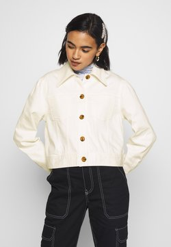 Who What Wear - THE PUFF SLEEVE JACKET - Jeansjacke - warm white