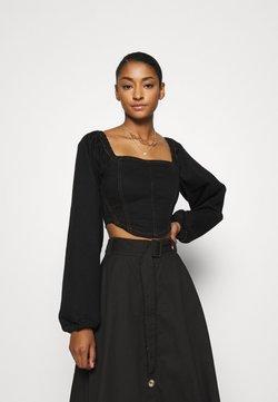 Topshop - CORSET - Bluse - black