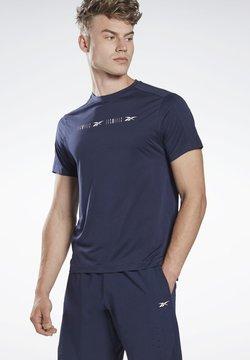 Reebok - LES MILLS® PERFORATED T-SHIRT - T-Shirt print - blue
