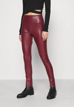 Hollister Co. - Legginsy - burgundy leather
