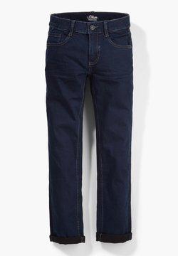 s.Oliver - SLIM FIT - Straight leg jeans - dark blue