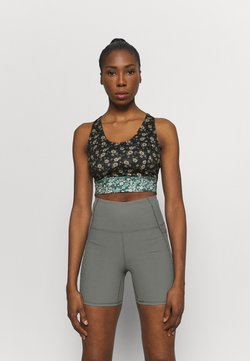 Free People - PRINTED SYNERGY CROP - Sujetador deportivo - black combo