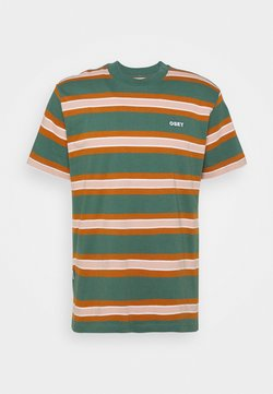 Obey Clothing - LOGAN TEE  - T-shirt con stampa - green multi