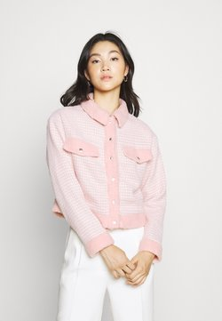 Missguided - BOUCLE EMBELLISHED BUTTON - Leichte Jacke - pink