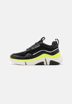 KARL LAGERFELD - VENTURE LAZARUS LOOP MIX - Sneaker low - black/yellow