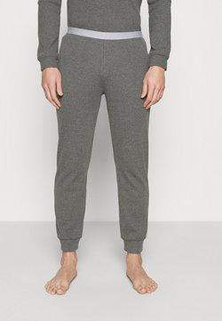 Pier One - LOUNGE HENLEY TROUSERS - Pantalón de pijama - mottled dark grey