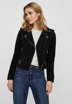 Vero Moda - Veste en cuir - black