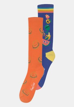 Happy Socks - FRUIT TOWER BURGERS 2 PACK UNISEX - Calcetines hasta la rodilla - multi-coloured