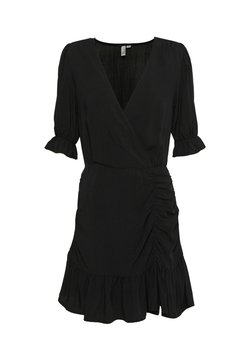 Nly by Nelly - FLIRTY RUCHED DRESS - Hverdagskjoler - black