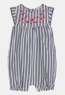 Carter's - FLORAL STRIPE - Overall / Jumpsuit - blue/white