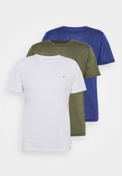 Calvin Klein Golf - 3 PACK - T-Shirt basic - khaki/navy/white