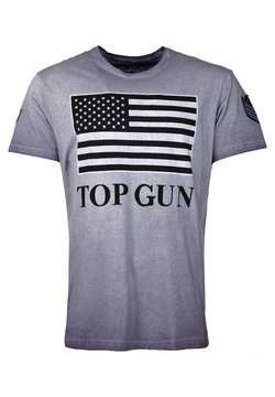 TOP GUN - MIT US-FLAGGE SEARCH - T-shirt print - blue