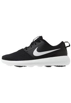 Nike Golf - ROSHE G - Golfschoenen - black/metallic white/white