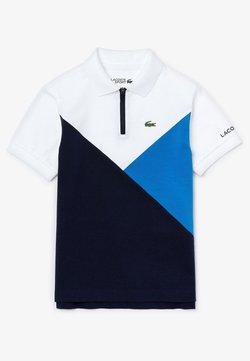 Lacoste Sport - Poloshirt - blanc / bleu / bleu marine
