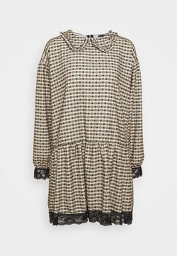 NEW girl ORDER - GINGHAM COLLAR DRESS - Vestito estivo - camel