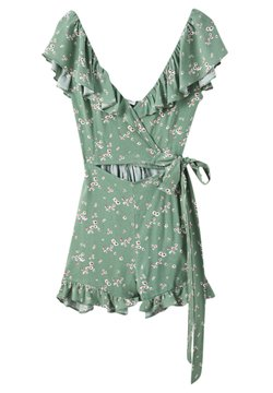 PULL&BEAR - CUT-OUT-DETAIL - Combinaison - green