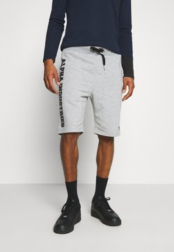 Alpha Industries - BIG LETTERS SHORT - Shorts - grey heather