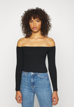 Missguided Tall - SQUARE NECK CROPPED JUMPER - Strickpullover - black